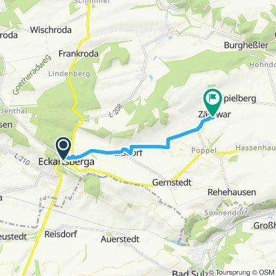 Langsame Fahrt in Lanitz-Hassel-Tal