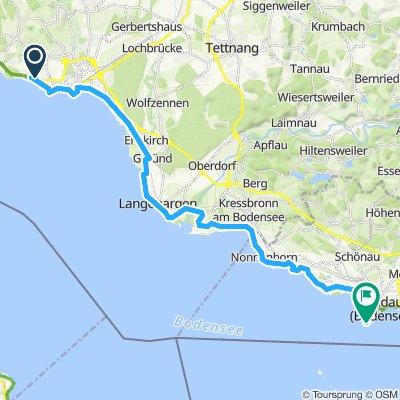 Bodenseeradtour 5. Tag (bis Lindau)