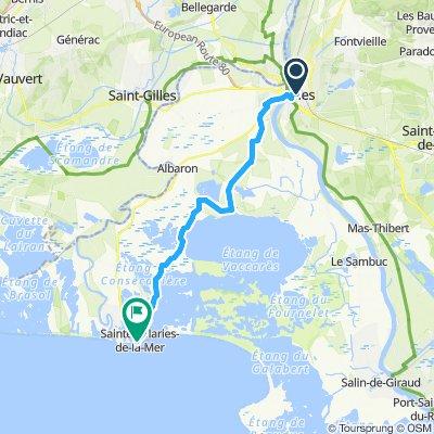 Arles to Saint-Maries-de-la-Mer