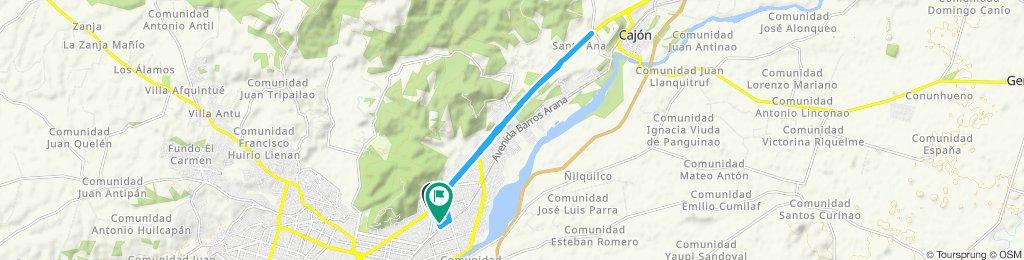 Ruta constante en Temuco