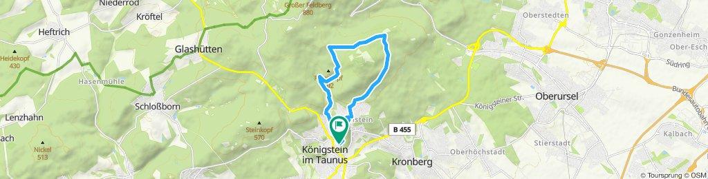 Langsame Fahrt in Königstein im Taunus