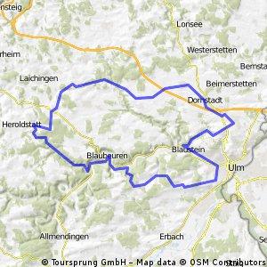 80 km rund um die Blau