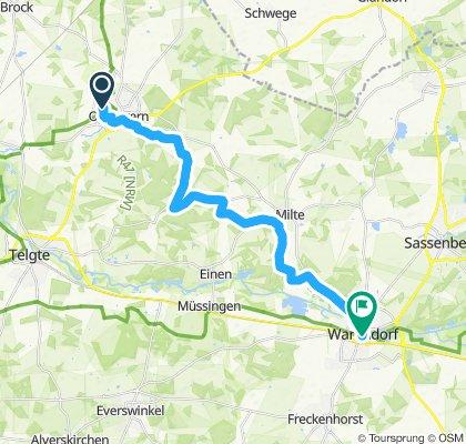 Gerade Fahrt in Warendorf