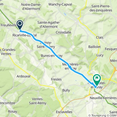 Giro semplice in Neufchâtel-en-Bray