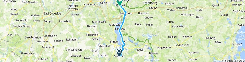 Gemütliche Route in Lübeck