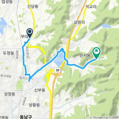 Cycling routes and bike maps in and around Cheonan | Bikemap ...