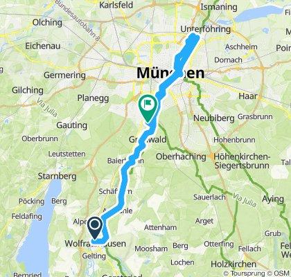 B04WOR-Wolfratshausen-Isarkanal-Wiener Platz-Englischer Garten-Pullach S-Bahn