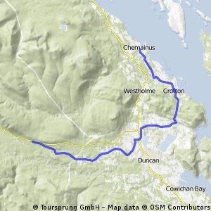 Day 012 Chemainus to Cowichan Lake, BC