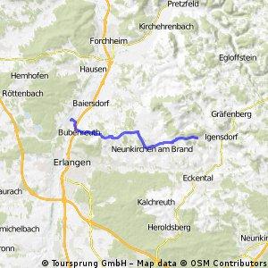 Oberlindlbach - Möhrendorf