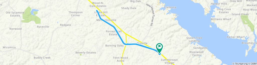 Relaxed route in Mechanicsville