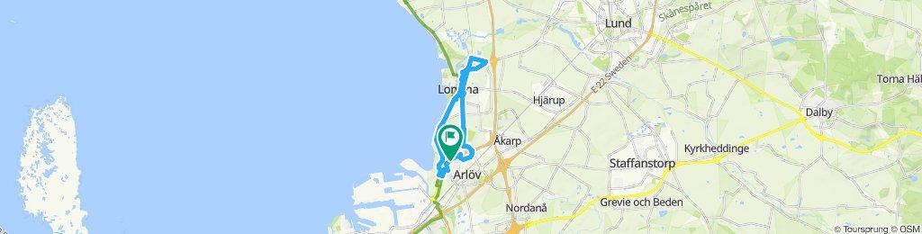 Snail-like route in Arlöv