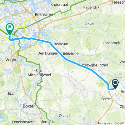 Snail-like route in 's-Hertogenbosch