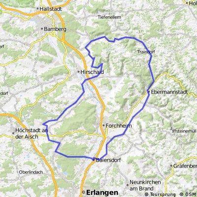 Aisch - Buttenheim - Heiligenstadt - Ebermannstadt - Baiersdorf