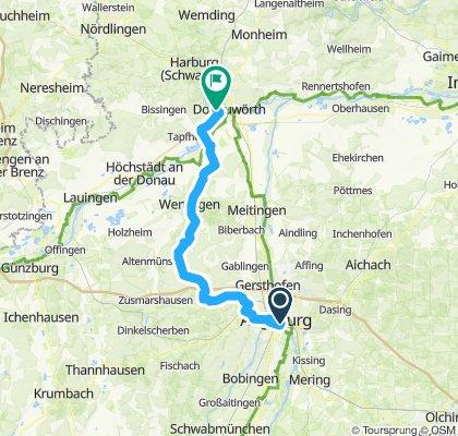 Augsburg bis Donauwörth