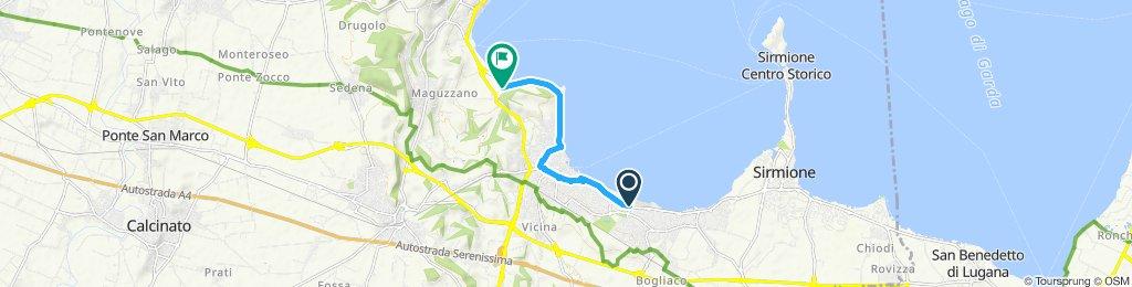 lungo lago Desenzano