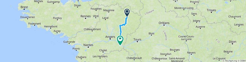 1er étape. Souligné sous Ballon - Saumur