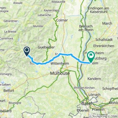 Route im Schneckentempo in Moosch
