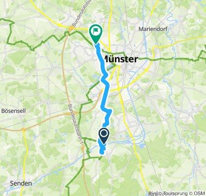 Gemütliche Route in Münster