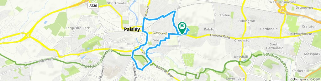 Restful route in Paisley