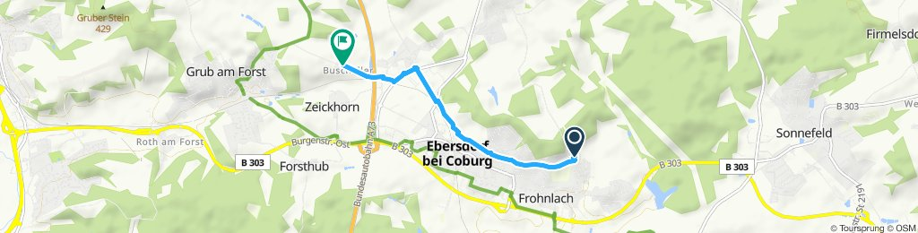 Moderate Route in Grub am Forst