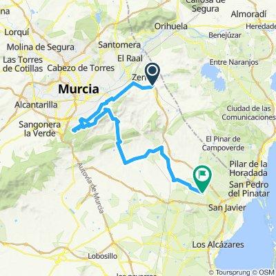 Zeneta to South Murcia Hill to San Javier