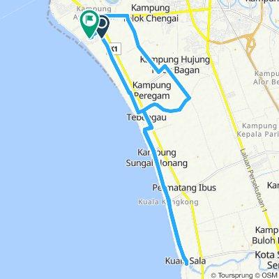 Snail-like route in Bandar Kuala Kedah