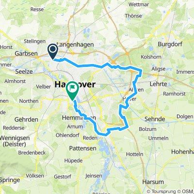 Stöcken - Kanal - Altwarmb - Mergelb - Rethen- Ricklingen