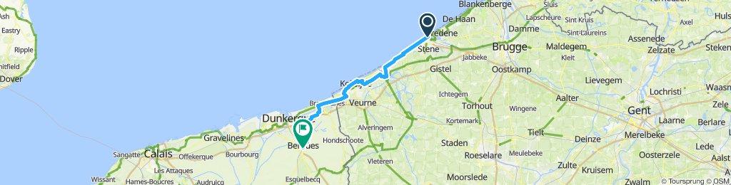Ostende a bergues du 3 au 4