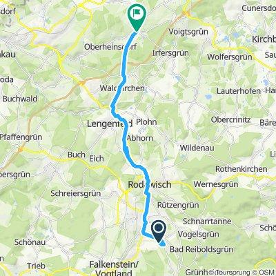 Gemütliche Route in Heinsdorfergrund