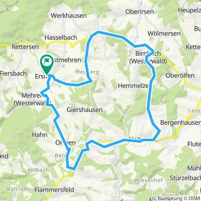 Gerade Fahrt in Ersfeld