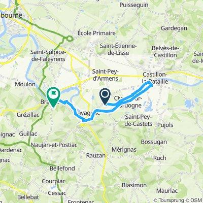 Itinéraire sportif en Branne