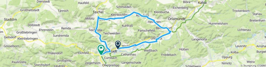 Sportliche Route in Rudolstadt
