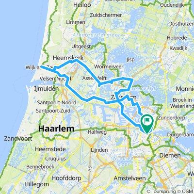 Tandem: Amsterdam-Haarlem   Bikemap - Deine Radrouten