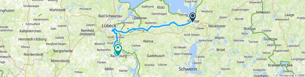 Wismar-Ratzeburg / 8.Tag von 9 Tagen