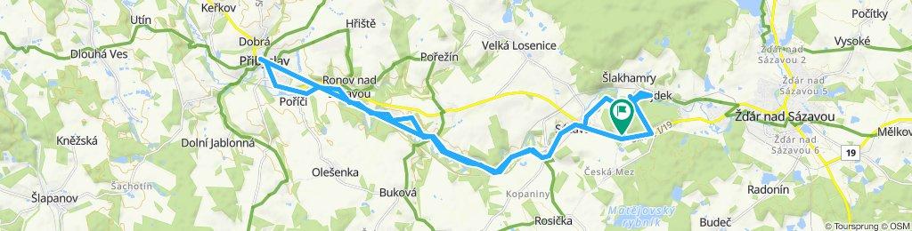 Snail-like route in Sázava