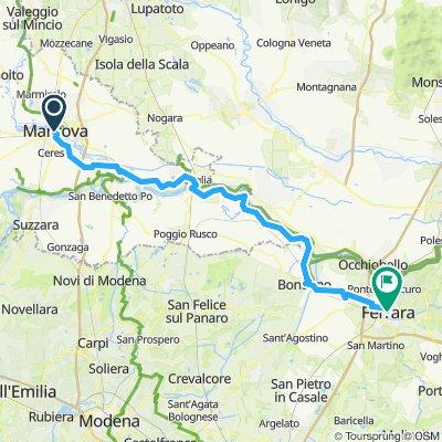 MANTOVA - FERRARA lungo il Po