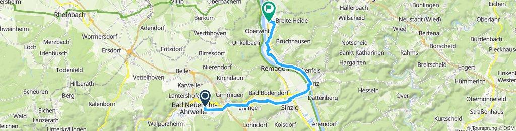 Gemütliche Route in Rheinbreitbach