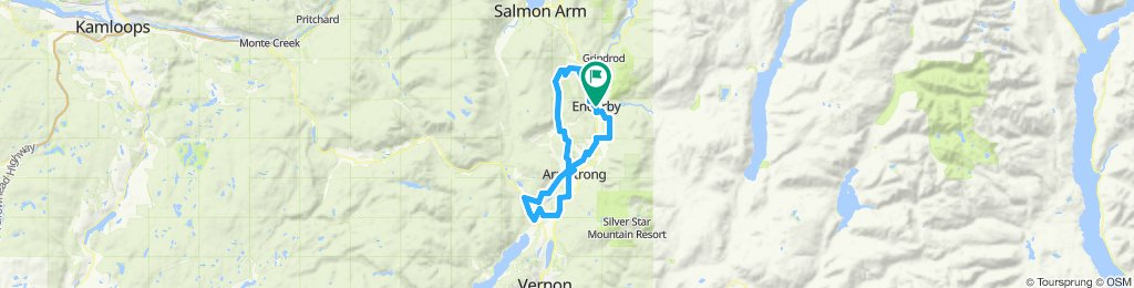 Enderby, Gardom lake past Otter lake loop