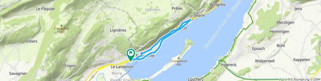 Itinéraire confortable en Le Landeron