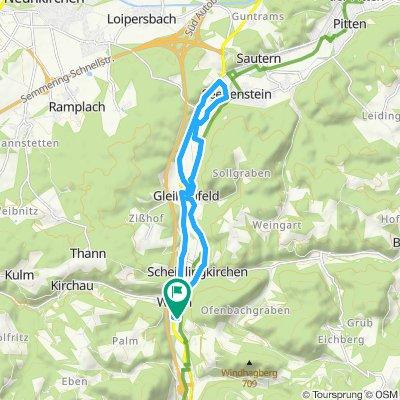 Moderate Route in Warth - Seebebstein - Warth