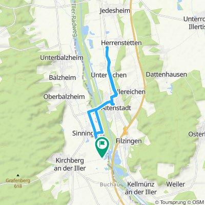 Gerade Fahrt in Kirchberg an der Iller