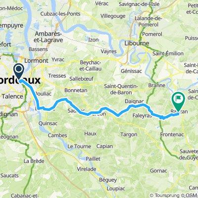 Rauzan to Bordeaux PISTE