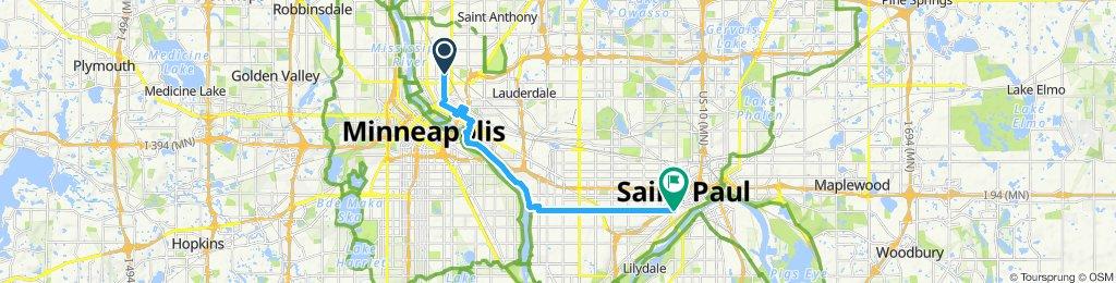 Moderate route in Saint Paul