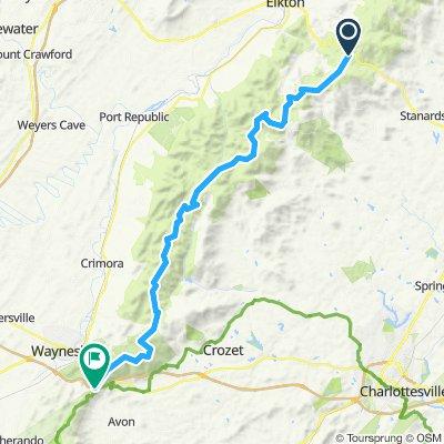 Swift Run/Elkton to Rockfish Gap (south)