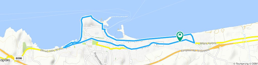 Moderate route in Rethymno