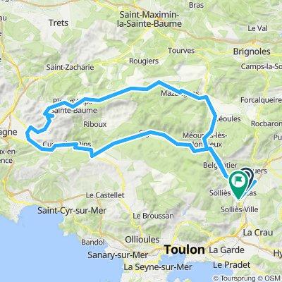 Solliès-Toucas Radfahren