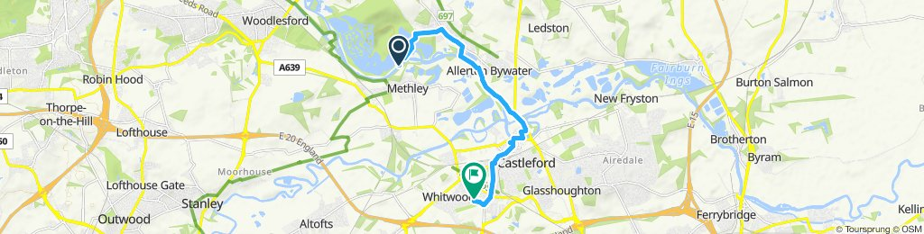 Moderate route in Castleford