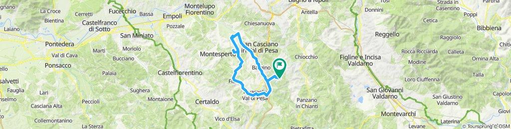 dag 1  met Gerrit  vanuit Fonte dei Medici  naar Marcialla  Lucardo  San Pancrazio