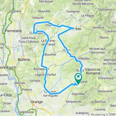 Lørdag 100km 690hm rundtur nordover