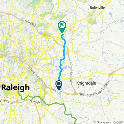 Steady ride in Raleigh
